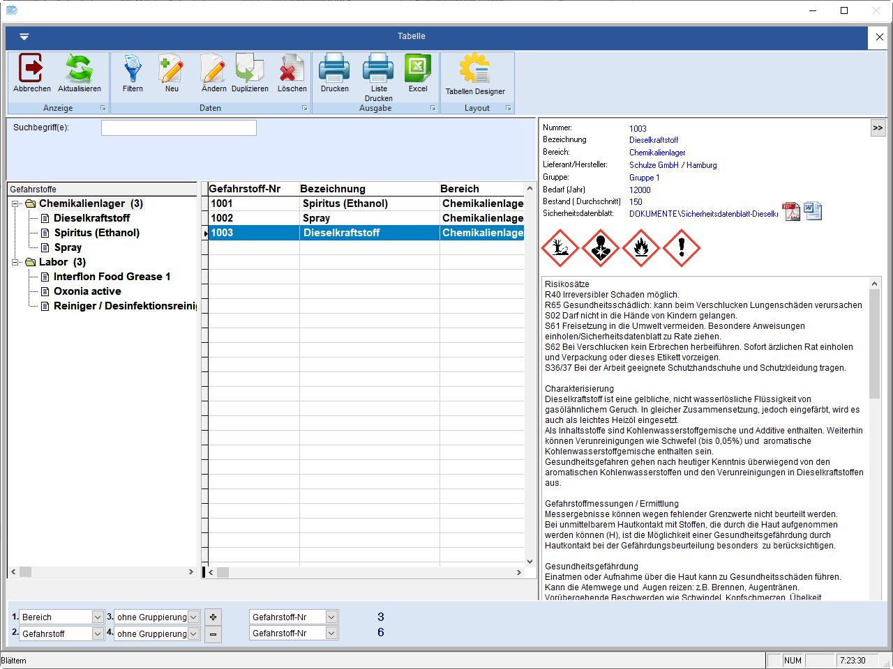 gefahrstoffe software - Gefahrdungsbeurteilung Gefahrstoffe Muster