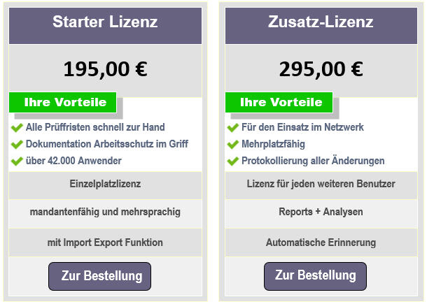 Preise Wartungsmanager