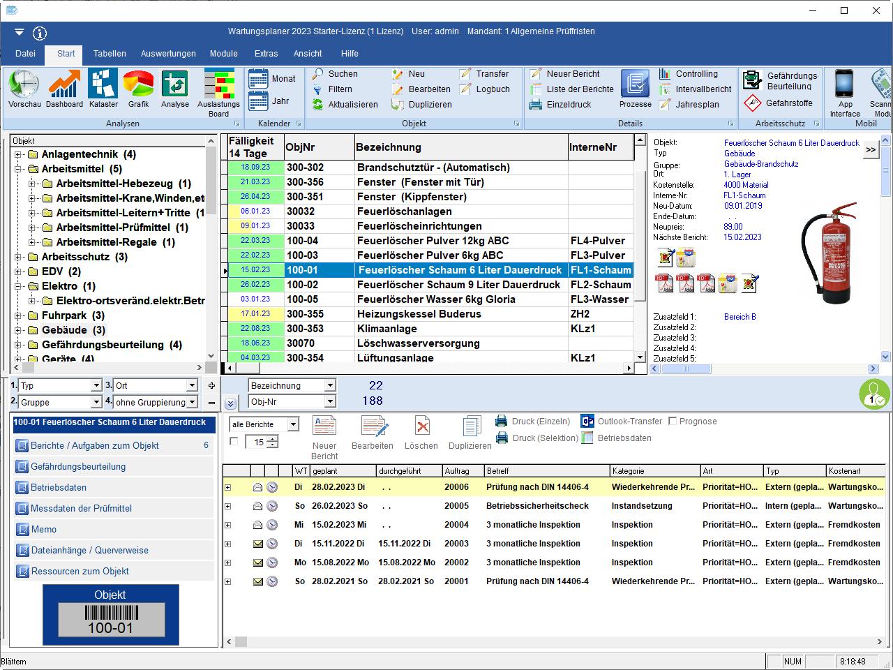 Mit der Software zur Prüfplanung fällt es ihnen leicht, bei sicherheitsrelevanten Prüfungen die Nachweise vorzulegen