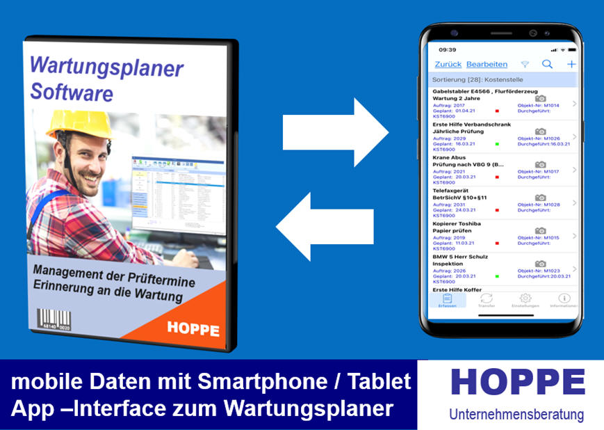 mobile Instandhaltung, APP Interface