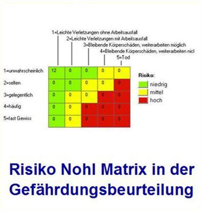 Nach nohl risiko Risikomatrix nach