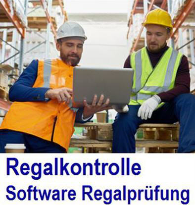 Regalprüfung im Betrieb mit der Regalprüfer-APP Regalprüfer app, App, iPhone, Android,  Regalinspektion APP, Regal app