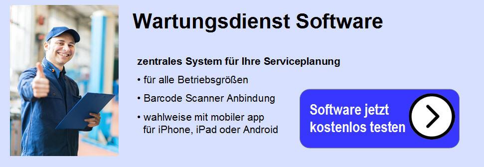 Software für den Wartungsdienst